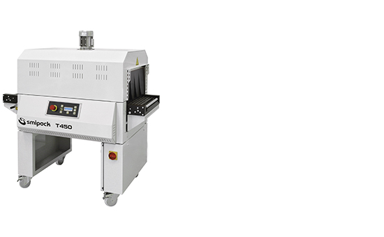 Manual, semiautomatic and automatic sealers with shrink tunnel