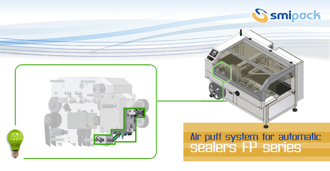 Air puff system for automatic side sealers FP series