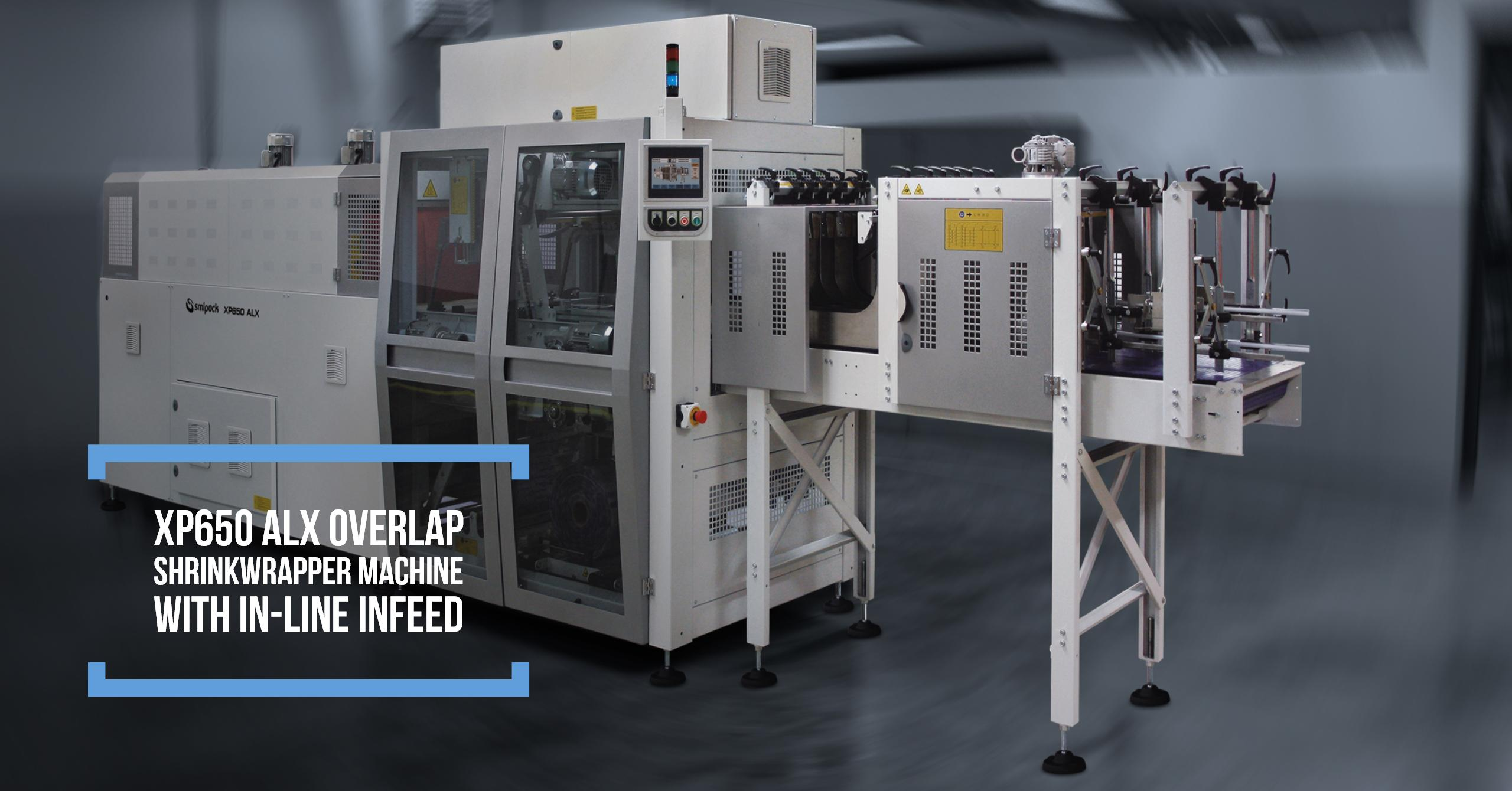 XP650 ALX Overlap shrinkwrapper machine with in-line infeed
